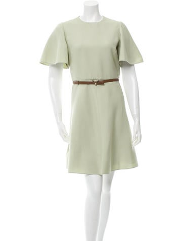Valentino Wool Belted Dress w/ Tags None