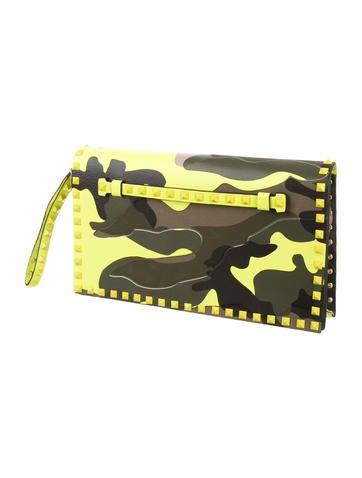 Rockstud Camouflage Clutch w/ Tags