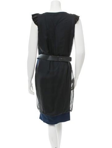Silk Belted Dress w/ Tags