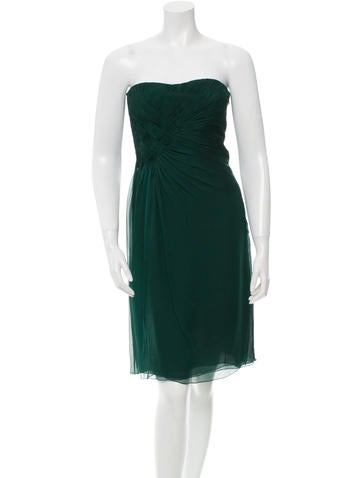 Silk Ruched Dress w/ Tags