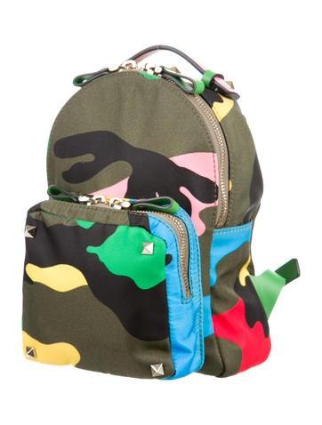 Mini Rockstud Camouflage Backpack