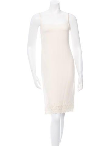 Valentino Sleeveless Embroidered Dress None