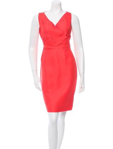 Valentino Sheath V-Neck Dress None
