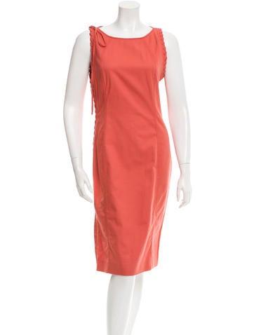 Valentino Sleeveless Sheath Dress None