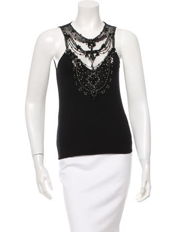 Valentino Sequined Sleeveless Top None