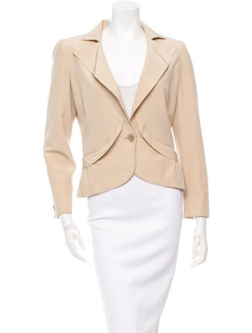 Valentino Long Sleeve Silk Jacket None