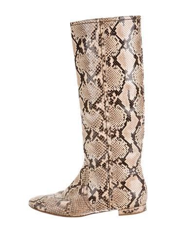 Valentino Snakeskin Boots