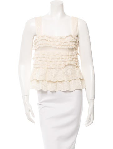 Valentino Tiered Lace Top w/ Tags None