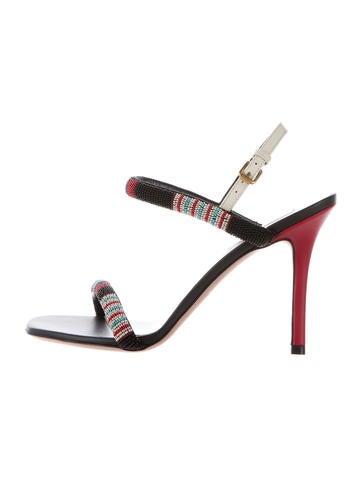 Valentino Beaded Strap Sandals None
