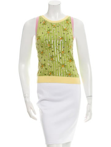 Valentino Beaded Knit Top None