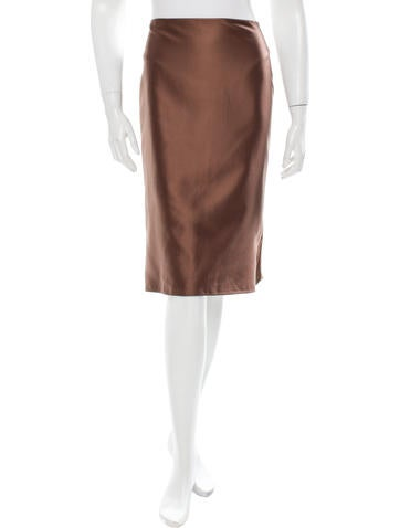 valentino satin a line skirt clothing val46317 the