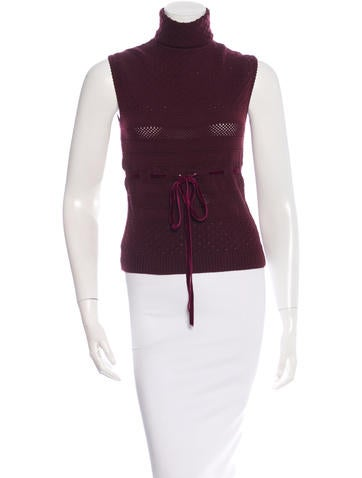 Valentino Sleeveless Cowl Neck Top None