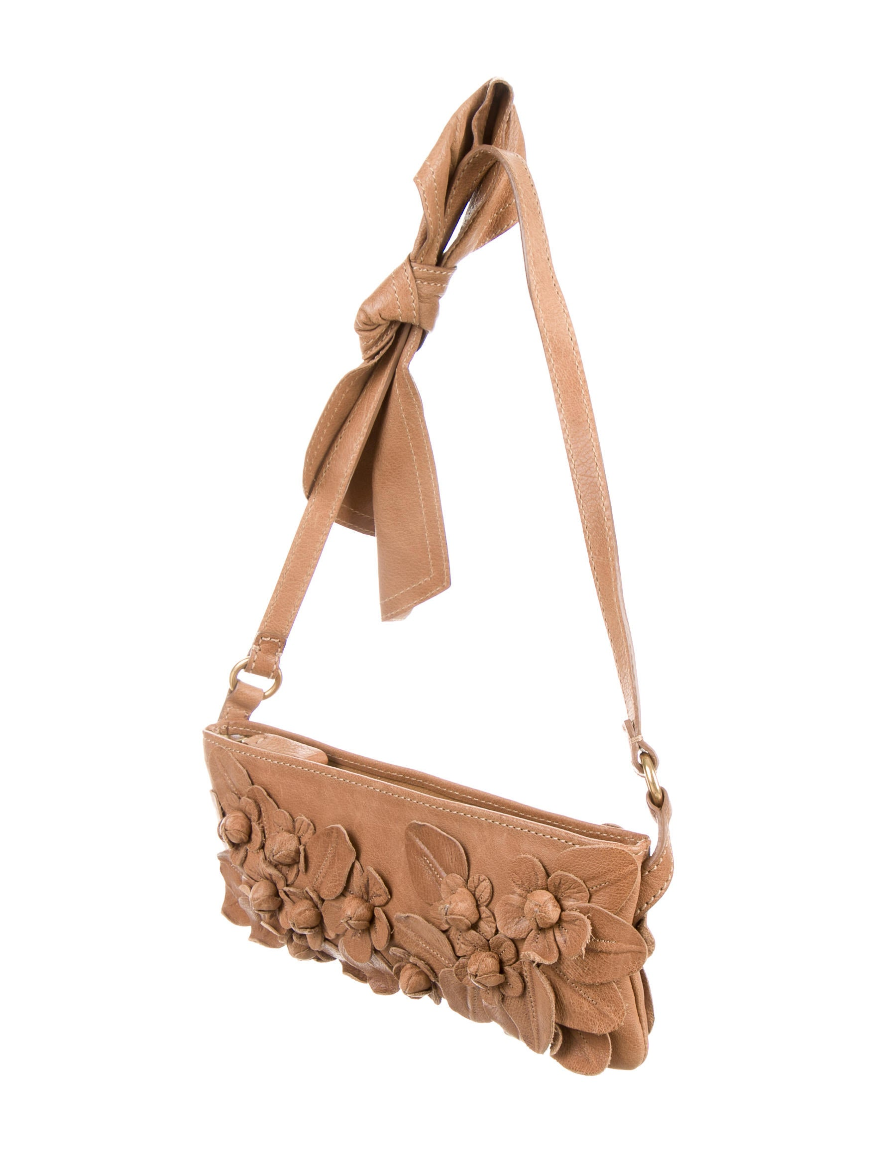 Valentino Floral-Appliquu00e9 Shoulder Bag - Handbags - VAL46616 | The RealReal