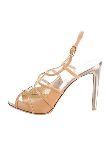 Valentino Patent Leather Multistrap Sandals None