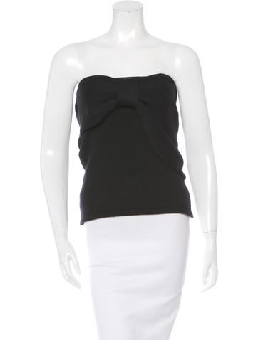 Valentino Strapless Wool Top None