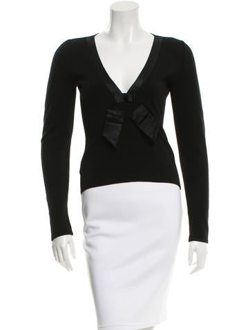 Valentino Wool-Blend Long Sleeve Top None
