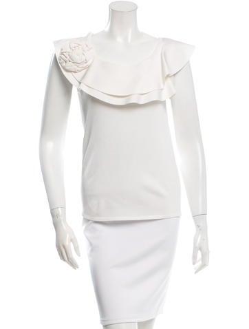 Valentino Knit Rosette Top None