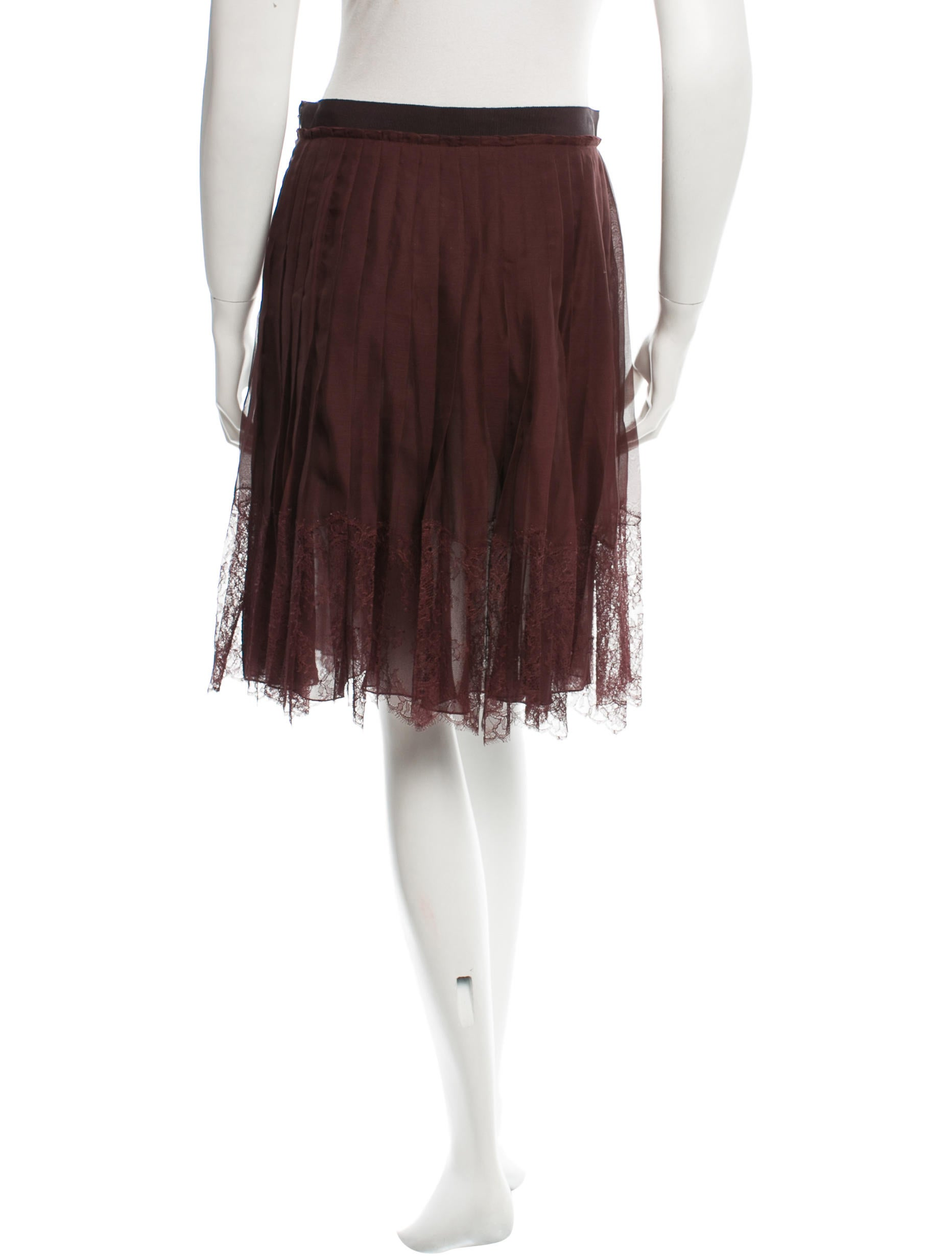 valentino pleated lace accented skirt w tags clothing