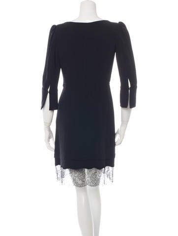 Lace-Trimmed Mini Dress