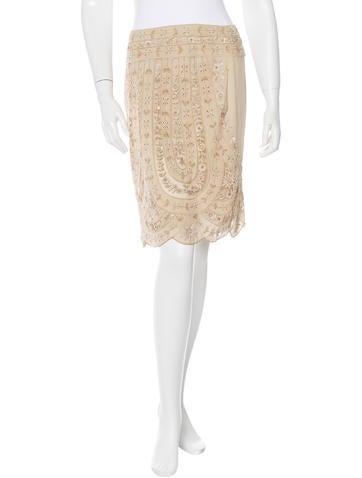 Valentino Embellished Mini Skirt None
