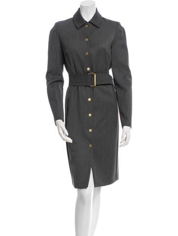 Belted Wool Dress