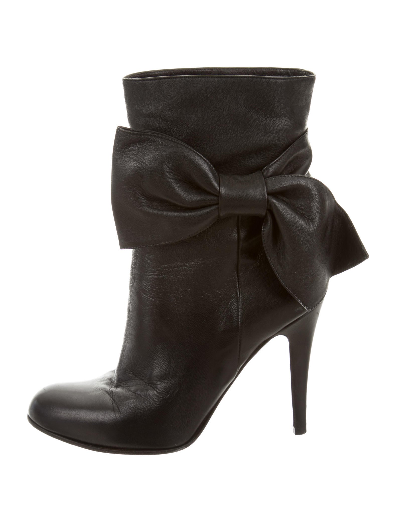 valentino leather bow ankle boots shoes val47826 the