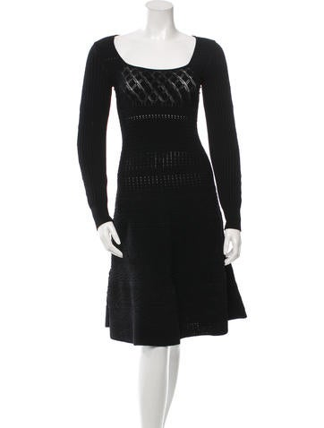 Valentino Square Neck Knit Dress w/ Tags None