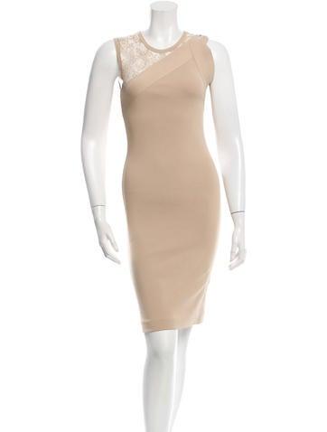 Valentino Lace-Accented Dress None