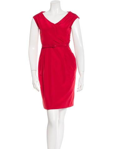 Valentino Belted Sheath Dress None