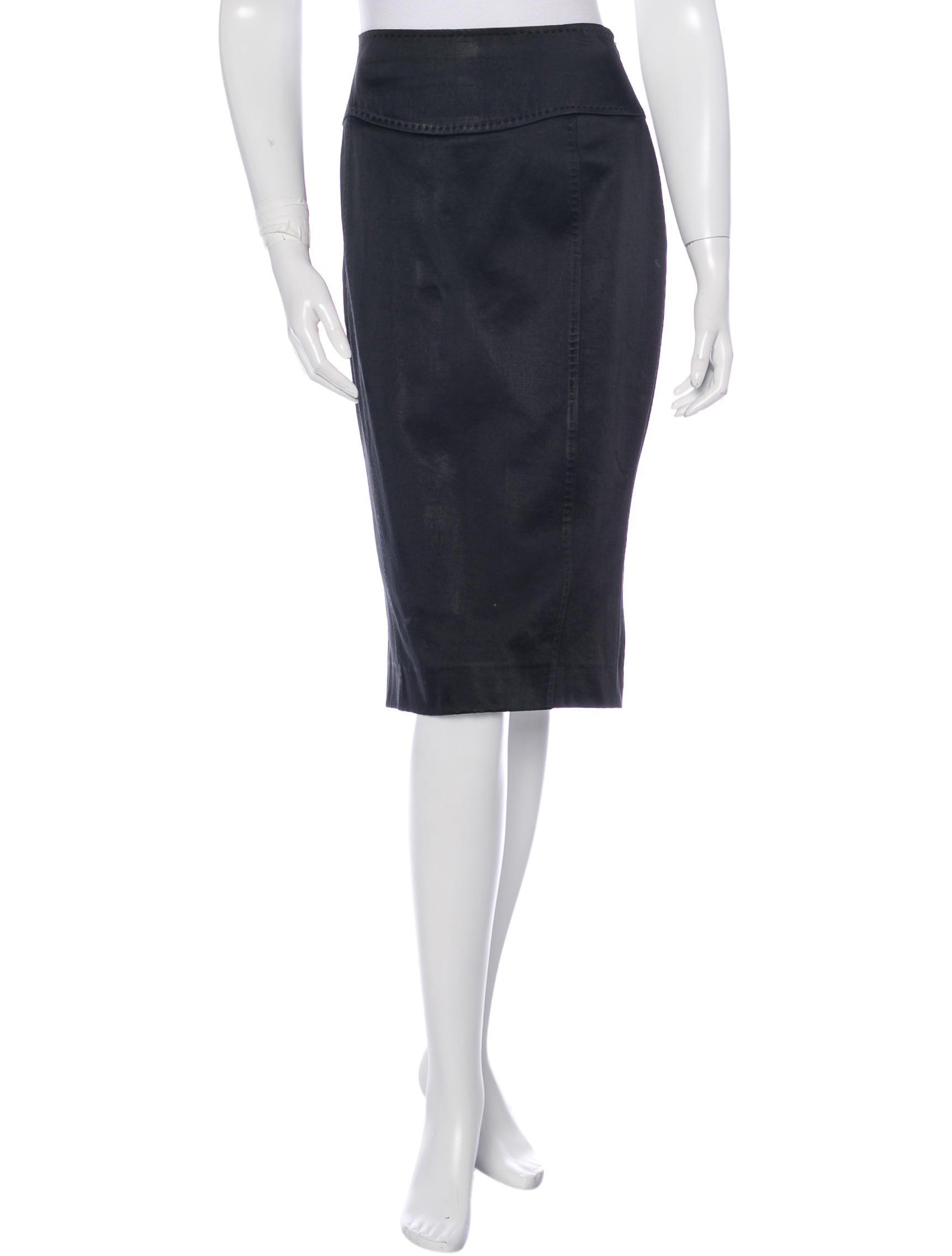 valentino satin pencil skirt clothing val48192 the