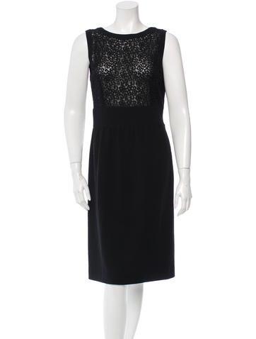 Valentino Wool Sleeveless Dress None