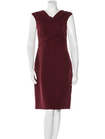 Valentino Sleeveless Wool Dress None