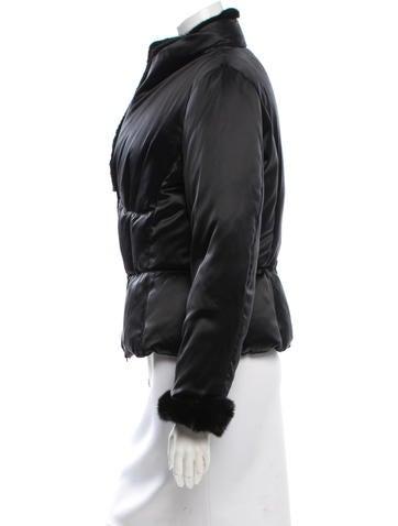 Mink-Trimmed Puffer Coat