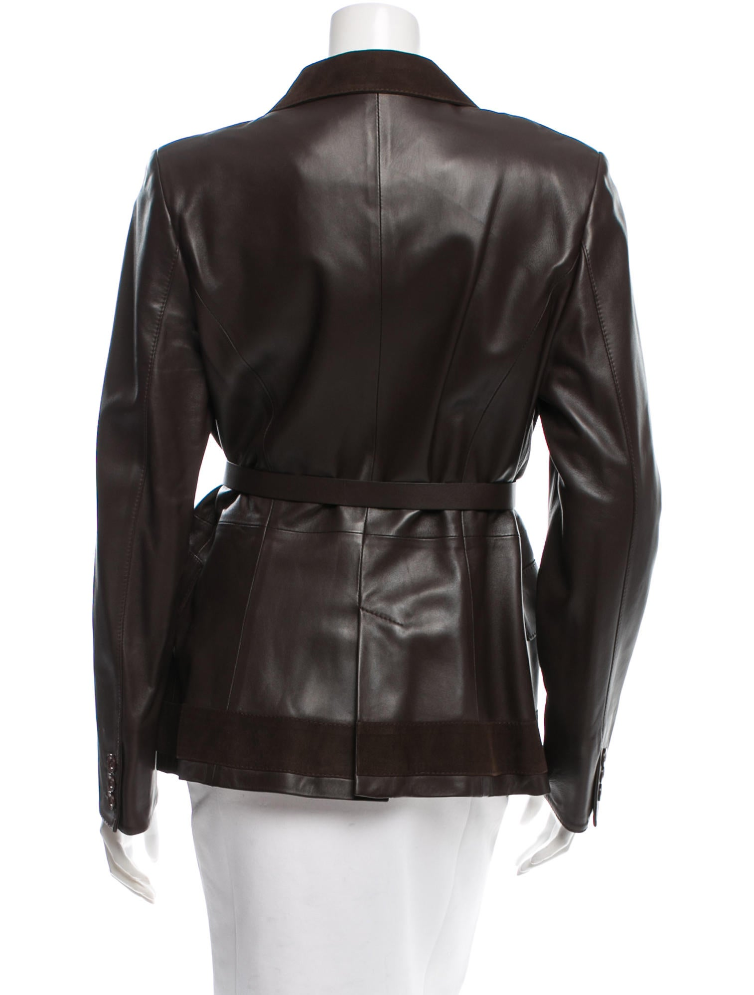 valentino belted leather jacket w tags clothing