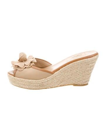 Valentino Slide Wedge Sandals None