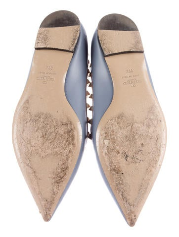 Leather Rockstud Flats