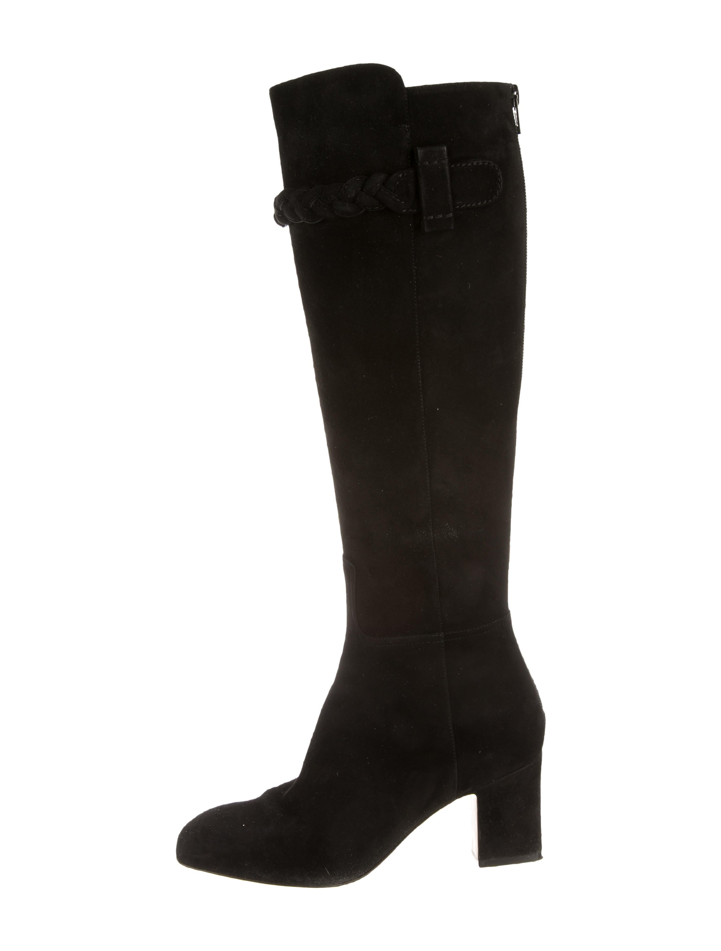 discount low cost discount big discount Valentino Knee-High Square-Toe Boots 25zEKSZ