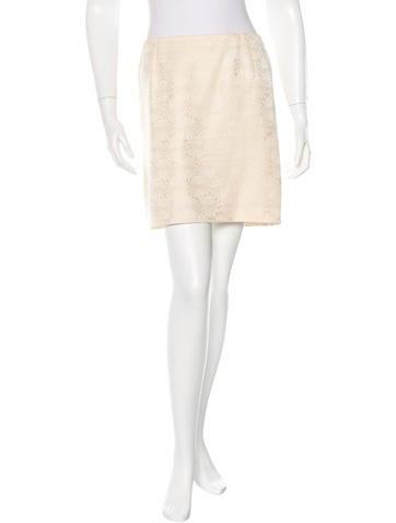Valentino Jacquard Mini Skirt None
