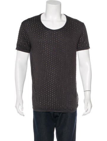 Valentino Embellished Scoop Neck T-Shirt w/ Tags None