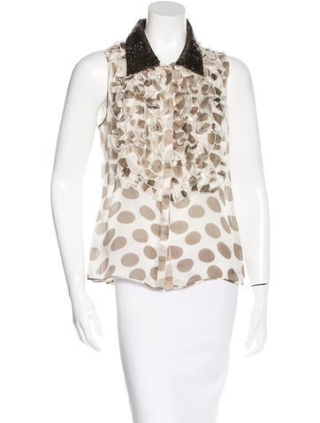 Valentino Silk Embellished Top None