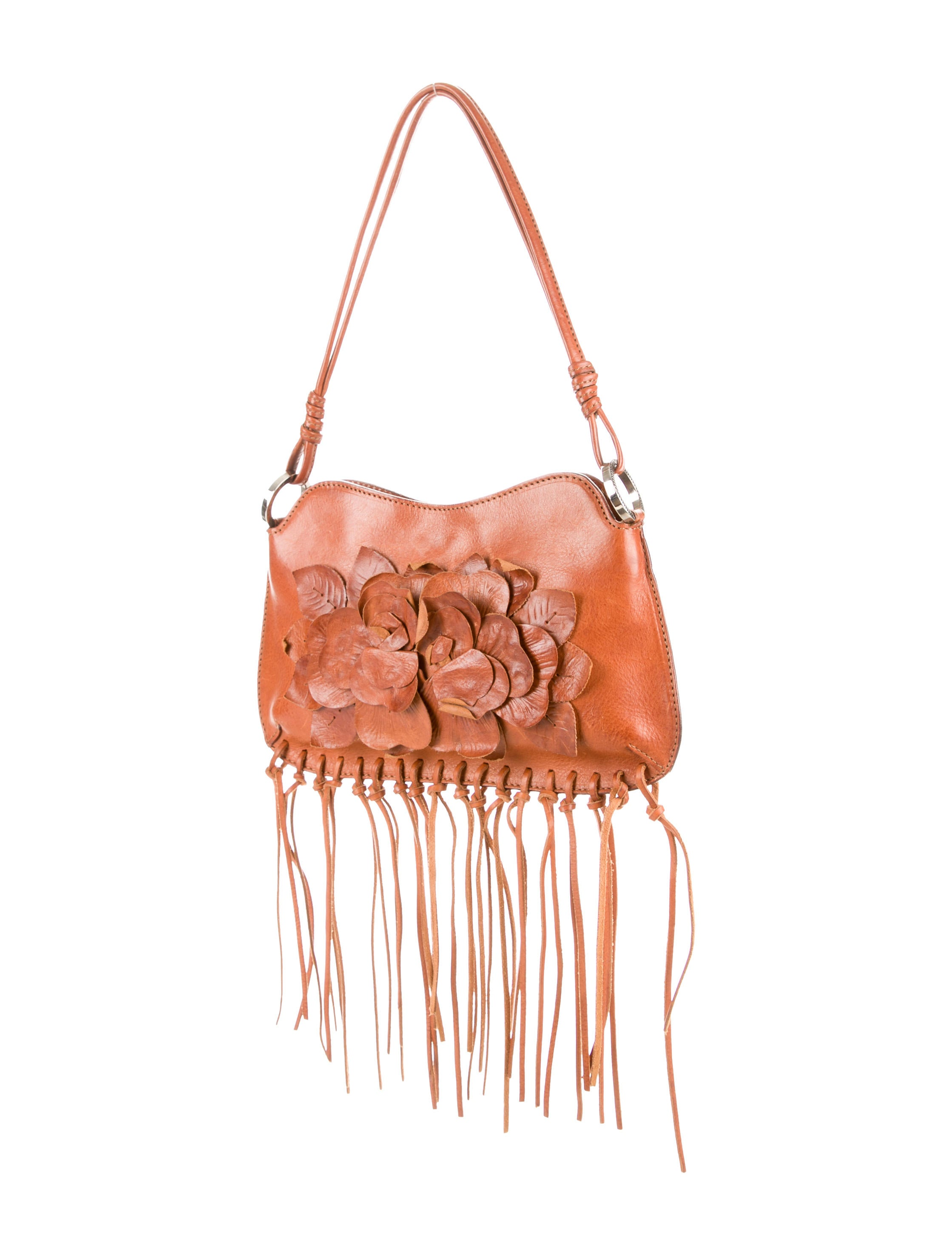 Valentino Floral Leather Appliquu00e9 Bag - Handbags - VAL49732 | The RealReal