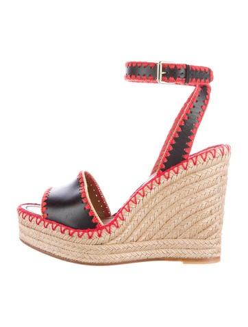 Valentino Platform Espadrille Wedge Sandals None