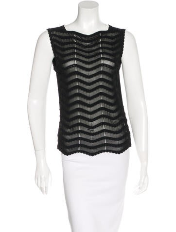 Valentino Sleeveless Patterned Top None