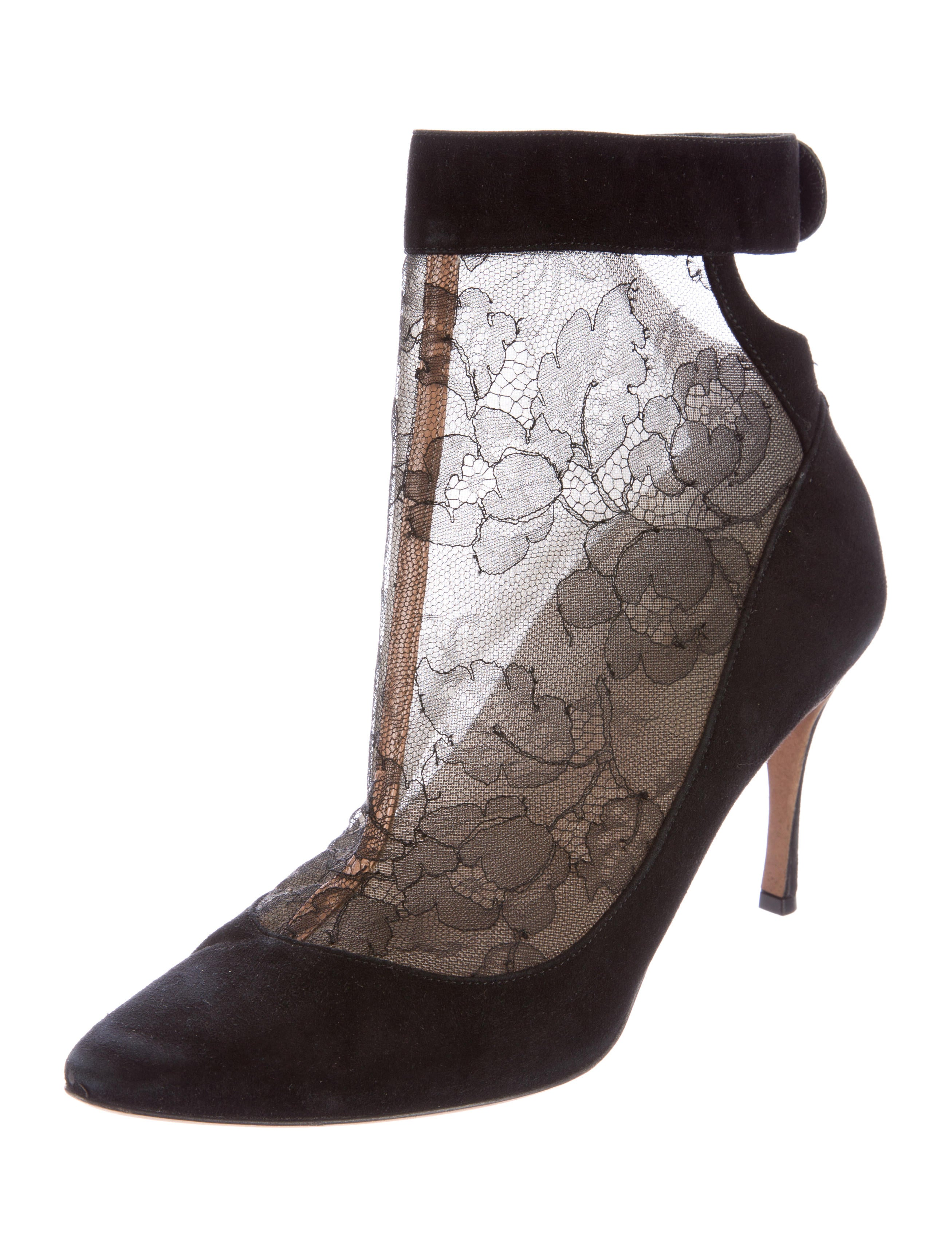 valentino lace suede ankle boots shoes val49957