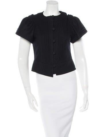 Valentino Virgin Wool Short Sleeve Top None