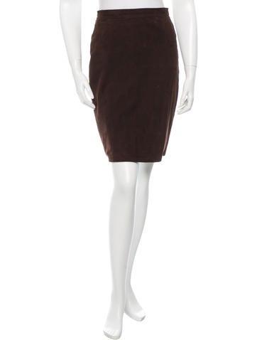 Valentino Suede Mini Skirt None