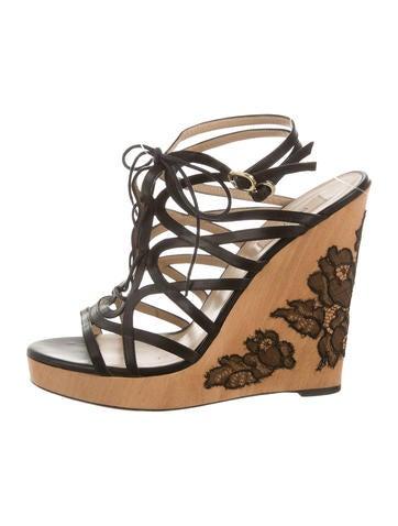 Valentino Leather Multi-Strap Sandals None