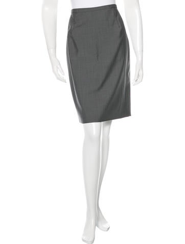 Valentino Wool Knee Length Skirt w/ Tags None