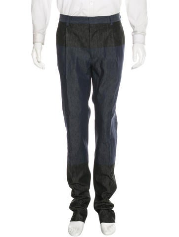 Valentino Colorblock Tapered Trousers w/ Tags None