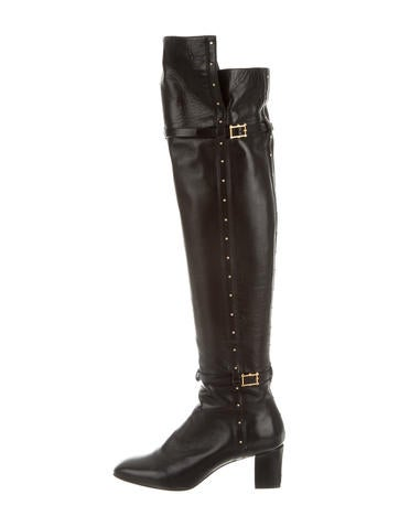 Valentino Studded Over-The-Knee Boots None